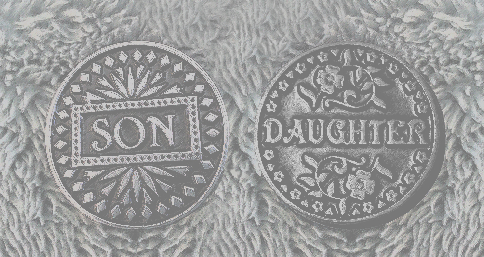 Son Daughter Coins