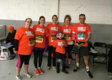 The Davey family team ready to run the Silverstone Half Marathon
